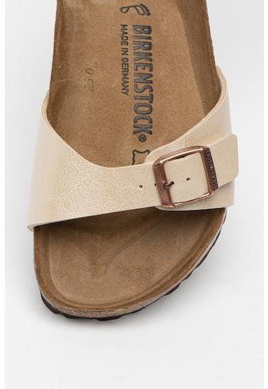 Birkenstock Papuci regular fit din piele ecologica cu aspect metalizat Madrid Femei