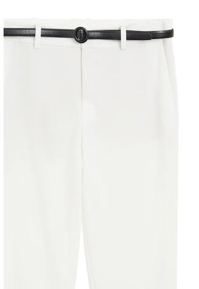 Mango Pantaloni drepti eleganti cu o curea Boreal Femei