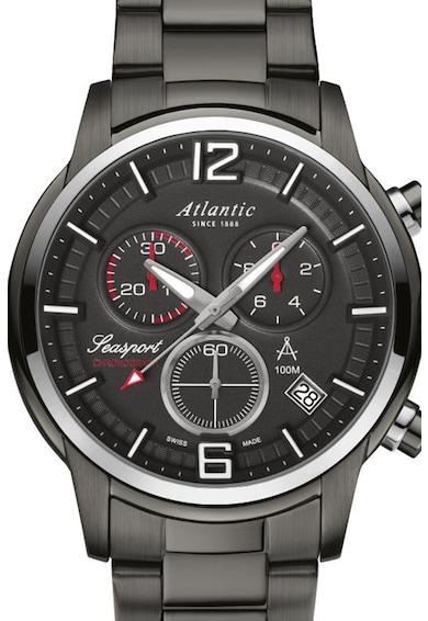 Atlantic Ceas cronograf cu bratara metalica Barbati
