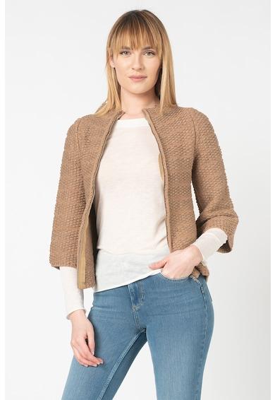 Stefanel Cardigan din amestec de lana, cu fermoar Femei