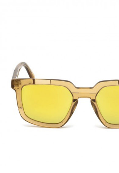 Diesel Ochelari de soare patrati cu lentile oglinda Femei
