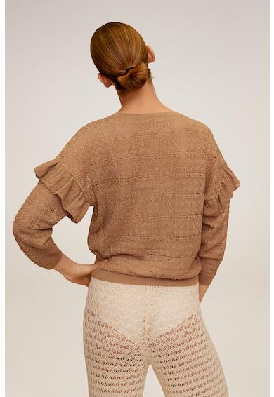 Mango Pulover lejer tricotat fin cu volane pe maneci Delaunay Femei