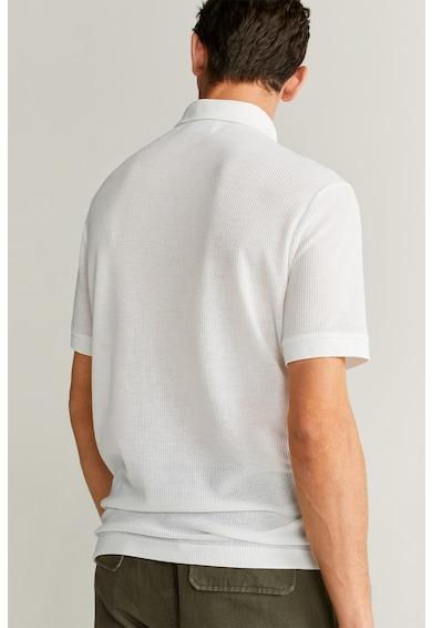 Mango Тениска с лен Gofre Мъже