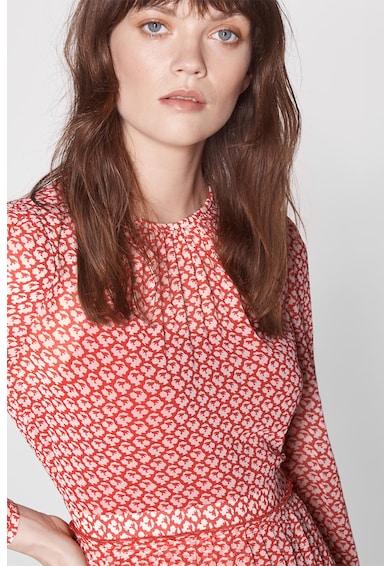 L.K. Bennett Rochie midi plisata cu strat exterior transparent Avery Femei