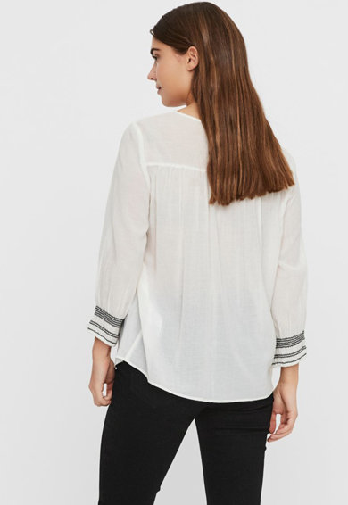 Vero Moda Bluza tip tunica cu cusaturi contrastante Femei