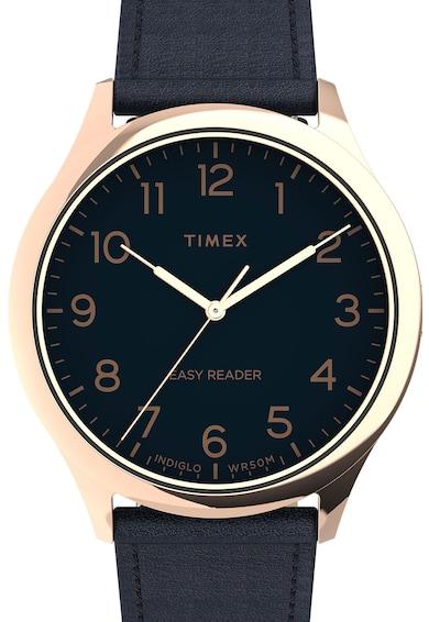 Timex Ceas analog cu o curea de piele Barbati