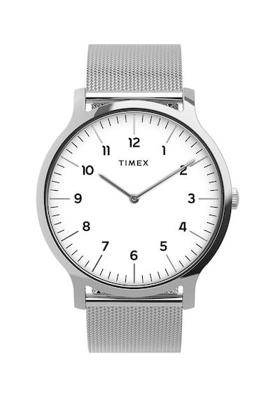 Timex Ceas analog cu bratara cu model plasa Barbati