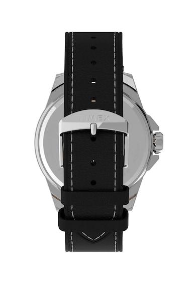 Timex Ceas quartz cu o curea de piele Barbati