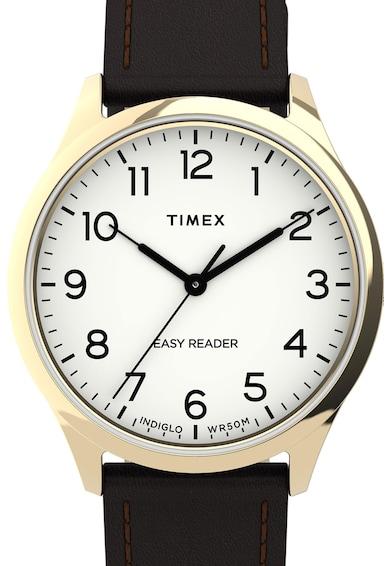 Timex Ceas analog cu o curea din piele Femei