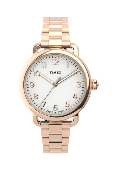 Timex Ceas quartz din otel inoxidabil Femei