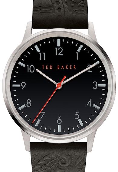 Ted Baker Ceas din otel inoxidabil cu o curea de piele Barbati
