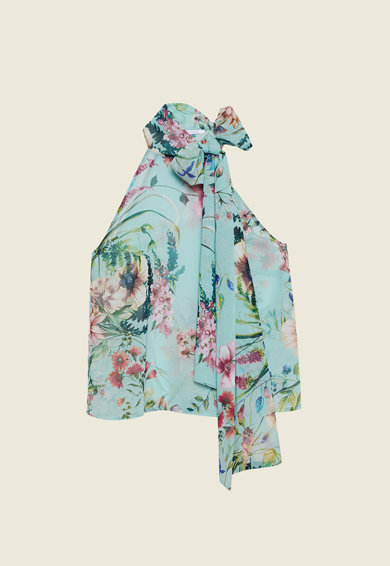 Motivi Bluza fara maneci, cu bretele halter si imprimeu floral Femei