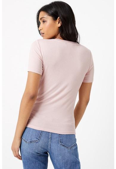 Marks & Spencer Bluza cu maneci scurte si decolteu la baza gatului Femei