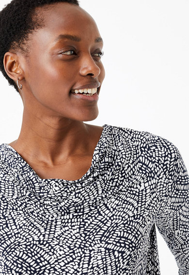 Marks & Spencer Bluza slim fit cu imprimeu Femei