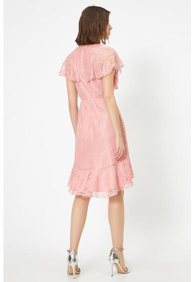 KOTON Átlapolós dizájnú ruha csipkeréteggel női