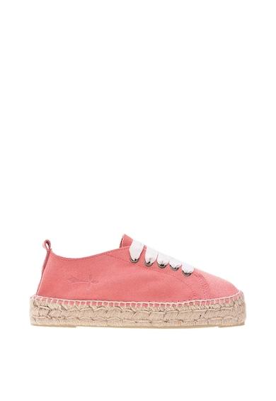 Manebi Pantofi sport de piele intoarsa cu insertii de iuta Femei