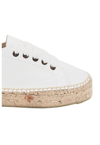 Manebi Pantofi sport tip espadrile de piele cu sireturi din panglici Femei