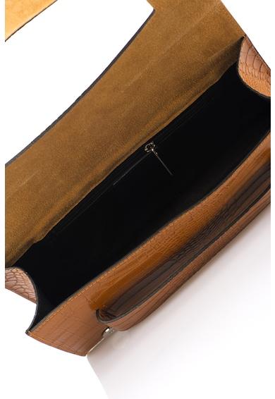 Krole Geanta plic de piele cu model piele de reptila Femei