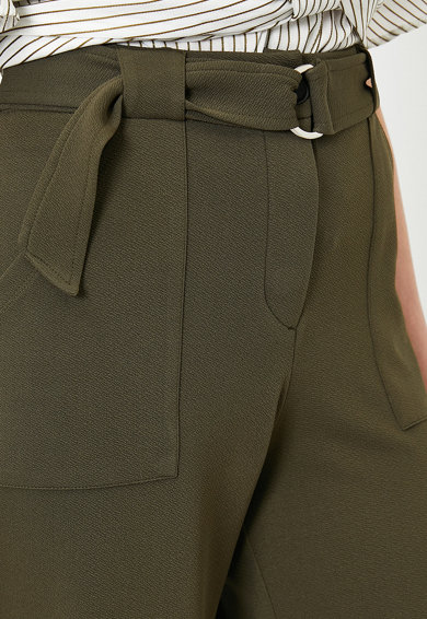 KOTON Pantaloni cu croiala ampla si curea Femei