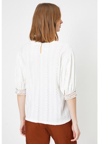 KOTON Bluza cu detalii cu perforatii Femei
