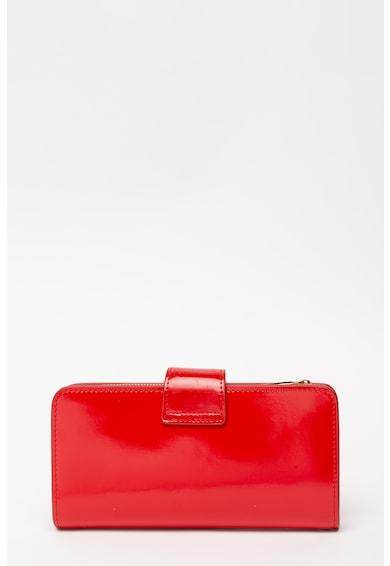 Pierre Cardin Portofel din piele lacuita cu logo metalic Femei