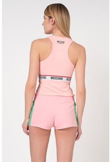Moschino Top de casa, cu garnitura cu logo Femei