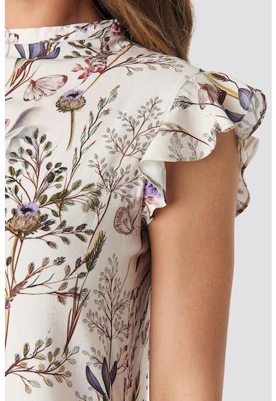 NA-KD Rochie mini cu model floral si volane Femei
