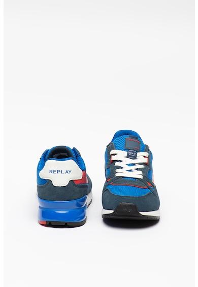 Replay Pantofi sport de piele intoarsa, cu insertii de plasa Limerik Barbati