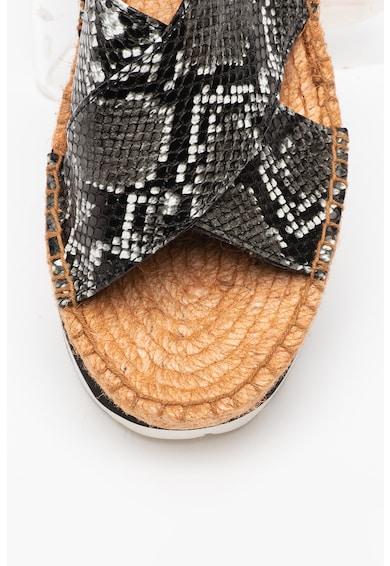 Replay Sandale flatform de piele ecologica Myers Femei