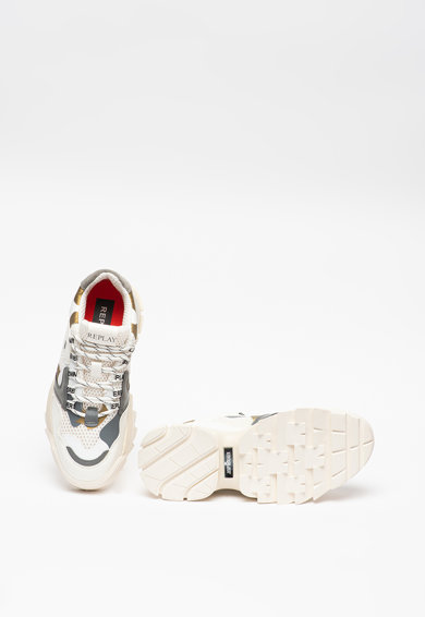 Replay Pantofi sport wedge cu insertii din material textil Keyston Femei