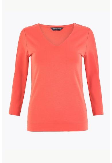 Marks & Spencer Bluza cu maneci 3/4 si decolteu in V Femei