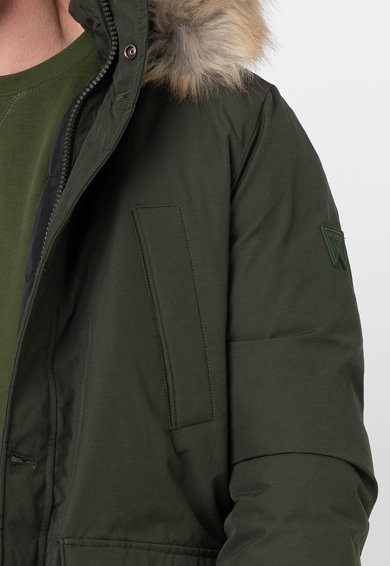 Wrangler Jacheta parka cu garnitura de blana sintetica Barbati