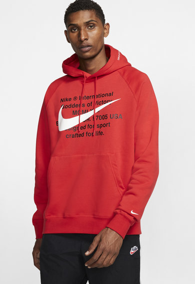 Nike Суитшърт Swoosh с качулка и ръкави тип реглан Мъже