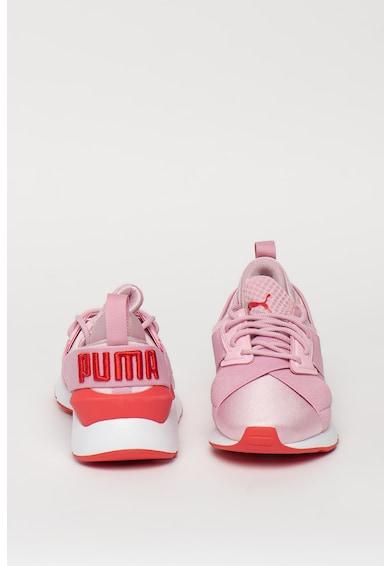 Puma Спортни обувки Muse Jr с контрастни детайли Момичета