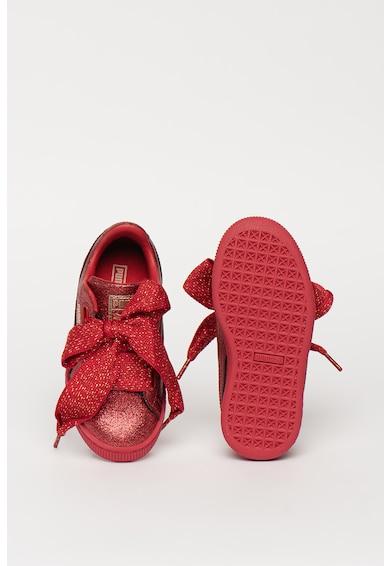 Puma Спортни обувки Basket Heart Holiday с брокат Момичета
