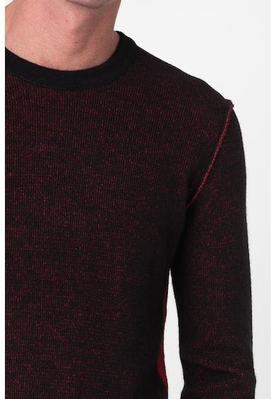 Replay Pulover din amestec de lana, cu segmente laterale contrastante Barbati