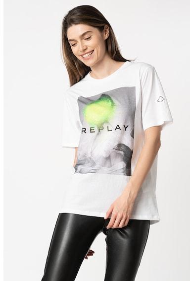 Replay Tricou cu imprimeu foto Femei