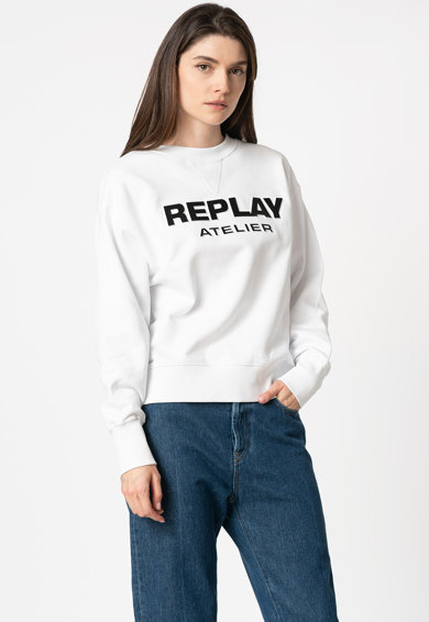 Replay Bluza sport cu imprimeu logo Femei