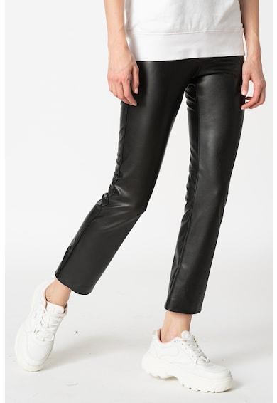 Replay Pantaloni crop drepti, din piele ecologica Femei