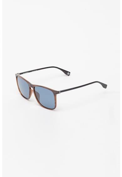 Converse Квадратни слънчеви очила с дървен ефект Жени