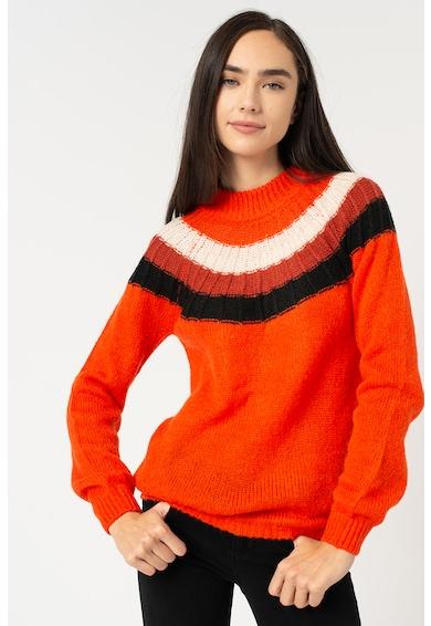 Garcia Gyapjútartalmú pulóver colorblock dizájnnal női