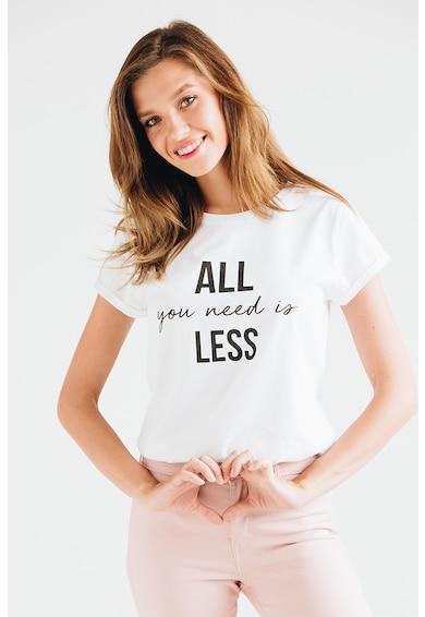 Andreea Raicu Tricou din bumbac organic cu imprimeu text Femei