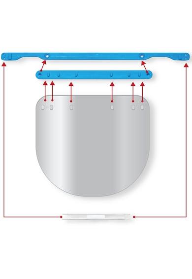 RoShield Viziera protectie faciala, PRO, transparenta, reglaj intre 49-66 cm, dimensiune 300 x 250 mm Femei