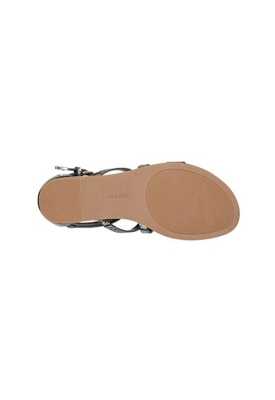 NINE WEST Sandale de piele ecologica cu barete multiple Caila Femei