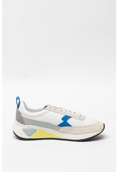 Diesel Pantofi sport de piele intoarsa cu talpa joasa si insertii de plasa Barbati