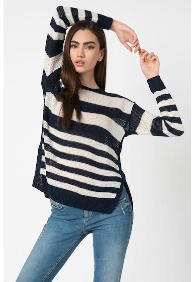 Polo Ralph Lauren Finomkötött csíkos pulóver aszimmetrikus alsó szegéllyel női