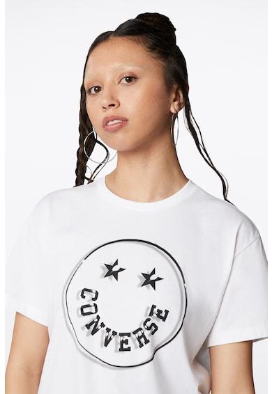 Converse Тениска Happy Camper Smiley с овално деколте Мъже