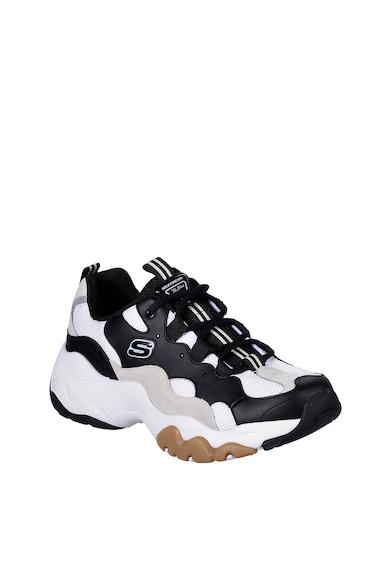 Skechers Pantofi sport cu aspect masiv si garnituri de piele intoarsa D'Lites 3.0 - High Alert Barbati