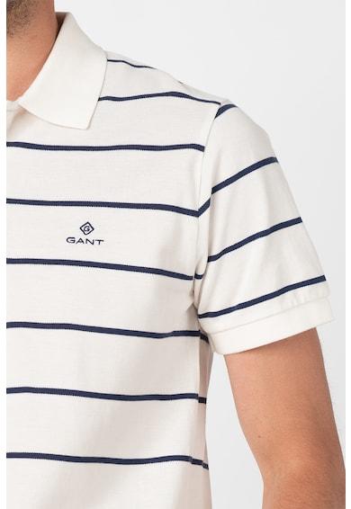 Gant Tricou polo din material pique cu model in dungi Breton Barbati