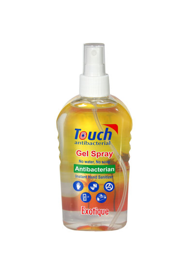 Touch Spray dezinfectant pentru maini  Exotic cu efect antibacterian, 59 ml Femei
